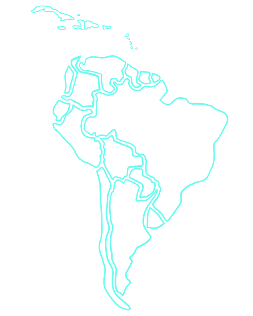 Map of South American and the Caribbean with Haiti and Venezuela highlighted.